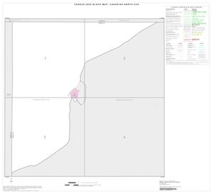 Primary view of object titled '2000 Census County Subdivison Block Map: Canadian North CCD, Texas, Index'.