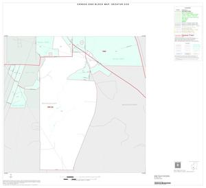Primary view of object titled '2000 Census County Subdivison Block Map: Decatur CCD, Texas, Inset A02'.