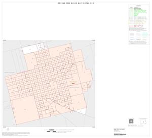 Primary view of object titled '2000 Census County Subdivison Block Map: Rotan CCD, Texas, Inset A01'.