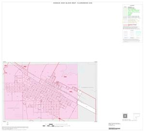 Primary view of object titled '2000 Census County Subdivison Block Map: Clarendon CCD, Texas, Inset B01'.