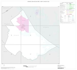 Primary view of object titled '2000 Census County Subdivison Block Map: Port Lavaca CCD, Texas, Index'.