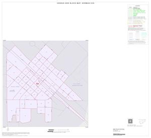 Primary view of object titled '2000 Census County Subdivison Block Map: Gorman CCD, Texas, Inset B01'.
