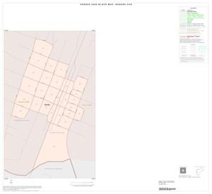 Primary view of object titled '2000 Census County Subdivison Block Map: Rogers CCD, Texas, Inset B01'.