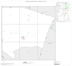 Primary view of object titled '2000 Census County Subdivison Block Map: Johnson City CCD, Texas, Index'.