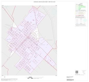 Primary view of object titled '2000 Census County Subdivison Block Map: Mathis CCD, Texas, Inset A01'.