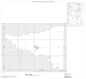 Primary view of object titled '2000 Census County Subdivison Block Map: Ballinger CCD, Texas, Index'.