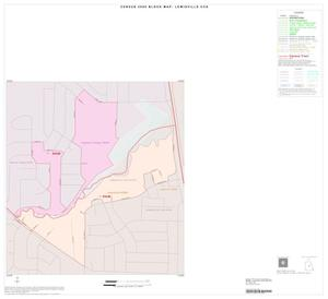 Primary view of object titled '2000 Census County Subdivison Block Map: Lewisville CCD, Texas, Inset A01'.