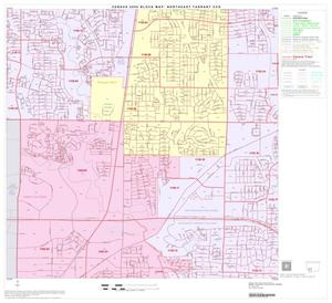 Primary view of object titled '2000 Census County Subdivison Block Map: Northeast Tarrant CCD, Texas, Block 12'.