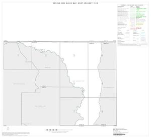Primary view of object titled '2000 Census County Subdivison Block Map: West Crockett CCD, Texas, Index'.