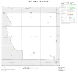 Primary view of object titled '2000 Census County Subdivison Block Map: Vega East CCD, Texas, Index'.