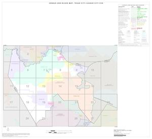 Primary view of object titled '2000 Census County Subdivison Block Map: Texas City-League City CCD, Texas, Index'.