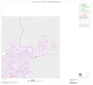 Primary view of object titled '2000 Census County Subdivison Block Map: Fredericksburg CCD, Texas, Inset A02'.