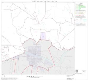 Primary view of object titled '2000 Census County Subdivison Block Map: Llano North CCD, Texas, Block 8'.
