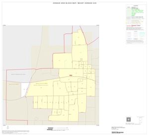 Primary view of object titled '2000 Census County Subdivison Block Map: Mount Vernon CCD, Texas, Inset A01'.