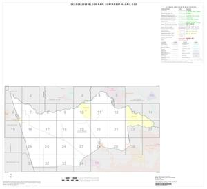 Primary view of object titled '2000 Census County Subdivison Block Map: Northwest Harris CCD, Texas, Index'.