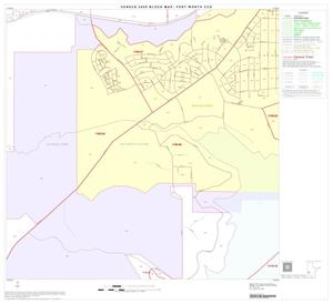 Primary view of object titled '2000 Census County Subdivison Block Map: Fort Worth CCD, Texas, Block 50'.