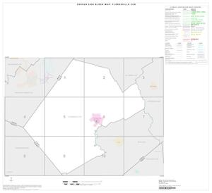 Primary view of object titled '2000 Census County Subdivison Block Map: Floresville CCD, Texas, Index'.