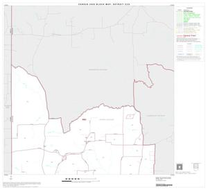 Primary view of object titled '2000 Census County Subdivison Block Map: Detroit CCD, Texas, Block 1'.