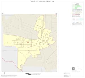 Primary view of object titled '2000 Census County Subdivison Block Map: Pittsburg CCD, Texas, Inset A01'.