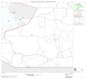 Primary view of object titled '2000 Census County Subdivison Block Map: Marion West CCD, Texas, Block 7'.