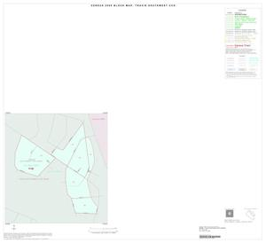 Primary view of object titled '2000 Census County Subdivison Block Map: Travis Southwest CCD, Texas, Inset A01'.