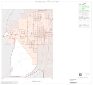 Primary view of object titled '2000 Census County Subdivison Block Map: Gilmer CCD, Texas, Inset A01'.
