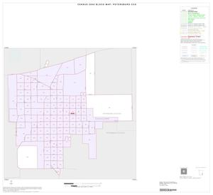 Primary view of object titled '2000 Census County Subdivison Block Map: Petersburg CCD, Texas, Inset A01'.