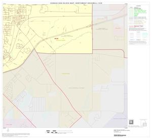 Primary view of object titled '2000 Census County Subdivison Block Map: Northwest Rockwall CCD, Texas, Block 4'.