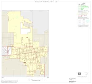 Primary view of object titled '2000 Census County Subdivison Block Map: Hondo CCD, Texas, Inset A01'.