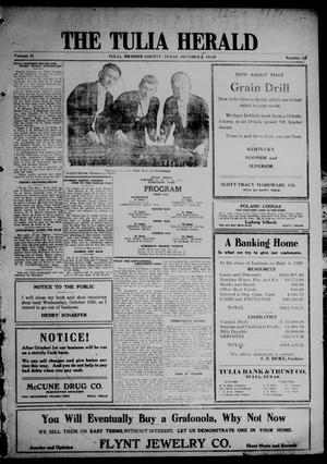 Primary view of The Tulia Herald (Tulia, Tex), Vol. 11, No. 41, Ed. 1, Friday, October 8, 1920