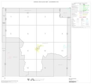 Primary view of object titled '2000 Census County Subdivison Block Map: Jacksboro CCD, Texas, Index'.