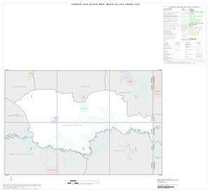Primary view of object titled '2000 Census County Subdivison Block Map: Maud-Elliot Creek CCD, Texas, Index'.