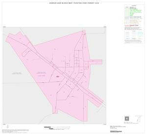 Primary view of object titled '2000 Census County Subdivison Block Map: Pickton-Pine Forest CCD, Texas, Inset A01'.