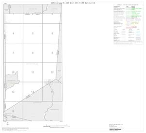 Primary view of object titled '2000 Census County Subdivison Block Map: Van Horn Rural CCD, Texas, Index'.
