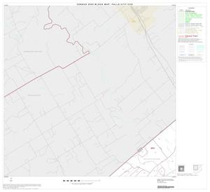 Primary view of object titled '2000 Census County Subdivison Block Map: Falls City CCD, Texas, Block 1'.