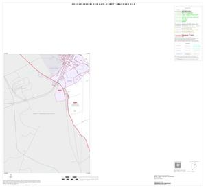 Primary view of object titled '2000 Census County Subdivison Block Map: Jewett-Marquez CCD, Texas, Inset A03'.