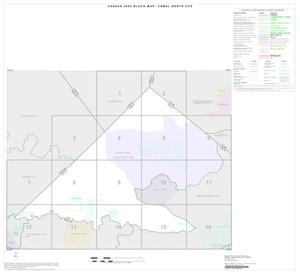 Primary view of object titled '2000 Census County Subdivison Block Map: Comal North CCD, Texas, Index'.