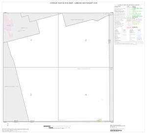Primary view of object titled '2000 Census County Subdivison Block Map: Lamesa Southeast CCD, Texas, Index'.