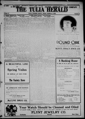 The Tulia Herald (Tulia, Tex), Vol. 11, No. 11, Ed. 1, Friday, March 12, 1920