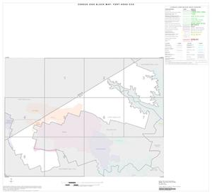 Primary view of object titled '2000 Census County Subdivison Block Map: Fort Hood CCD, Texas, Index'.