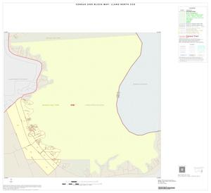 Primary view of object titled '2000 Census County Subdivison Block Map: Llano North CCD, Texas, Inset B01'.