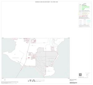 Primary view of object titled '2000 Census County Subdivison Block Map: Fulton CCD, Texas, Inset A02'.