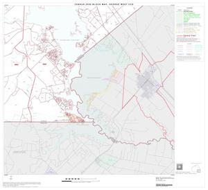 Primary view of object titled '2000 Census County Subdivison Block Map: George West CCD, Texas, Block 9'.