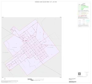 Primary view of object titled '2000 Census County Subdivison Block Map: St. Jo CCD, Texas, Inset A01'.