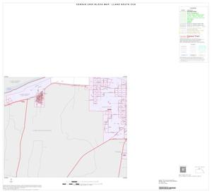 Primary view of object titled '2000 Census County Subdivison Block Map: Llano South CCD, Texas, Inset A03'.
