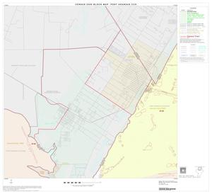 Primary view of object titled '2000 Census County Subdivison Block Map: Port Aransas CCD, Texas, Block 1'.