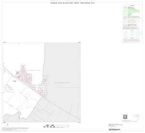 Primary view of object titled '2000 Census County Subdivison Block Map: West Tom Green CCD, Texas, Inset A04'.