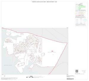 Primary view of object titled '2000 Census County Subdivison Block Map: Marion West CCD, Texas, Inset B01'.