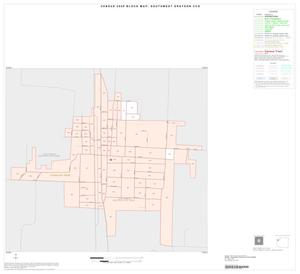 Primary view of object titled '2000 Census County Subdivison Block Map: Southwest Grayson CCD, Texas, Inset A01'.
