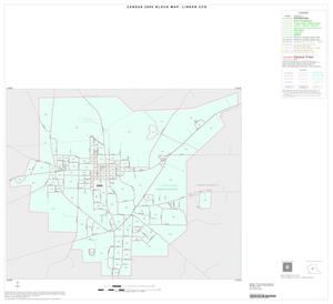 Primary view of object titled '2000 Census County Subdivison Block Map: Linden CCD, Texas, Inset A01'.